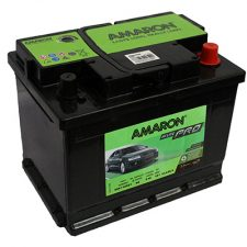 AMARON DIN (DIN66) 66 Amperes Positive Left Terminal Maintenance Free BLACK Colored BATTERY