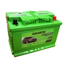 AMARON DIN (DIN74-LEFT) 74 Amperes Positive Left Terminal Maintenance Free GREEN Colored BATTERY