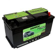 AMARON DIN (DIN90-LEFT) 90 Amperes Positive Left Terminal Maintenance Free BLACK Colored BATTERY