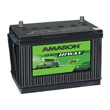AMARON HIGHWAY (N150) 150 Amperes RIGHT Terminal Ultra-Low Maintenance BLACK Colored BATTERY