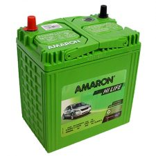 Amaron HiLife NS40 ZMF 35AH Positive Left Terminal Maintenance Free GREEN Colored Battery