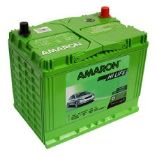 Amaron HiLife NS70 ZMF 60AH Positive Right Terminal Maintenance Free GREEN Colored Battery